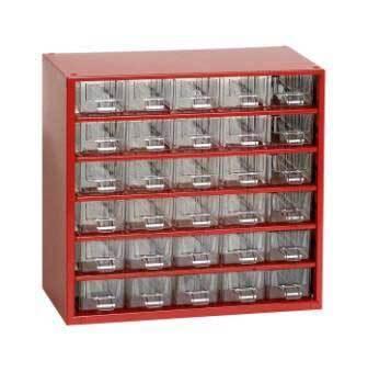 Box na nářadí MINI - 30xA, červená barva - MARS 6762C