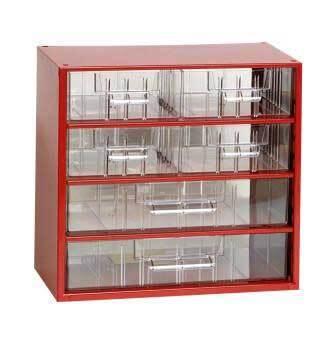 Box na nářadí MINI - 4xB, 2xC, červená barva - MARS 6768C