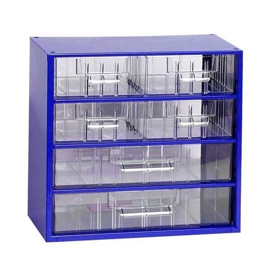 Box na nářadí MINI - 4xB, 2xC, modrá barva - MARS 6768M