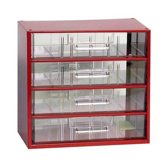 Box na nářadí MINI - 4xC, červená barva - MARS 6766C