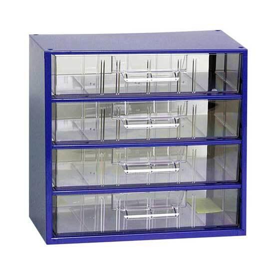 Box na nářadí MINI - 4xC, modrá barva - MARS 6766M