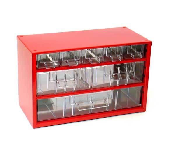Box na nářadí MINI – 5xA, 2xB, 1xC, červená barva - Mars 6733C