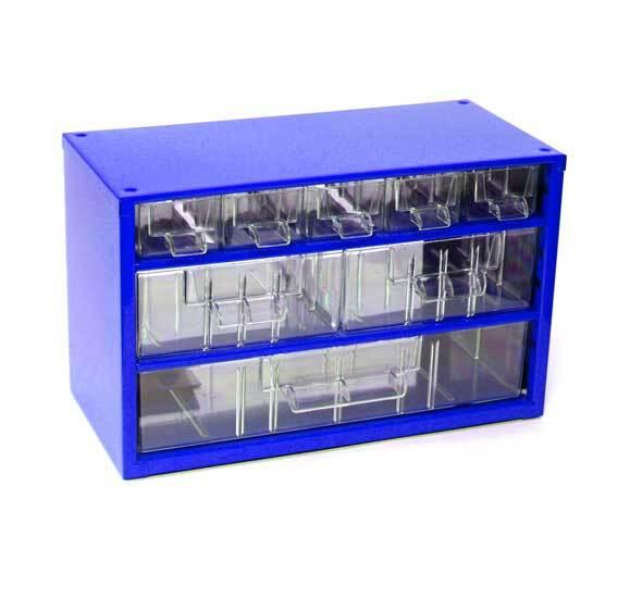 Box na nářadí MINI – 5xA, 2xB, 1xC, modrá barva - Mars 6733M