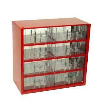 Box na nářadí MINI – 8xB, červená barva - Mars 6764C