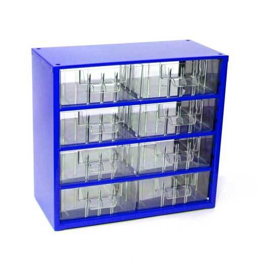 Box na nářadí MINI – 8xB, modrá barva - Mars 6764M