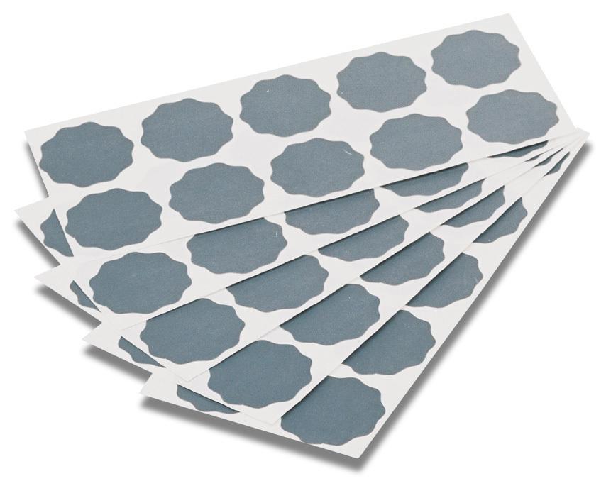 Brusné kytičky, různé hrubosti, voděodolné, průměr 33/36 mm, 100 ks - MIRKA