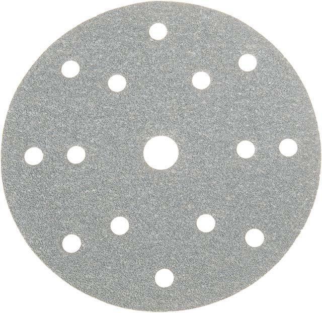 Brusné papírové kotouče, různé hrubosti, 150 mm, 15 otvorů, suchý zip, 100 ks