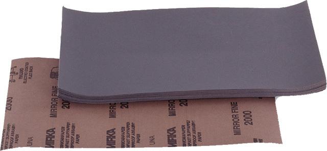 Brusné papíry 230 x 280 mm, voděodolné, balení 50 ks, různé hrubosti