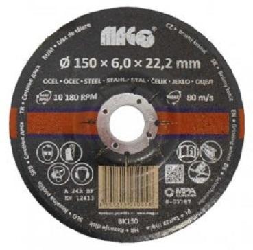 Kotouč brusný na kov 150 x 6 x 22,2 mm - MAGG BK150