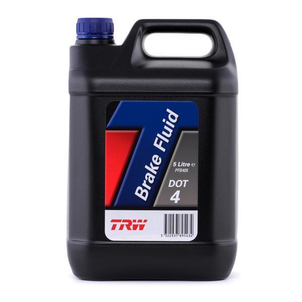 Brzdová kapalina DOT 4, 5 litrů - TRW PFB405