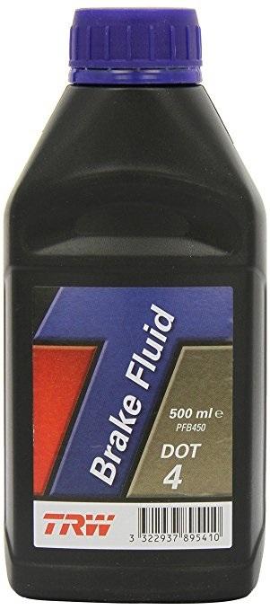 Brzdova kapalina DOT 4, 500 ml - TRW PFB450