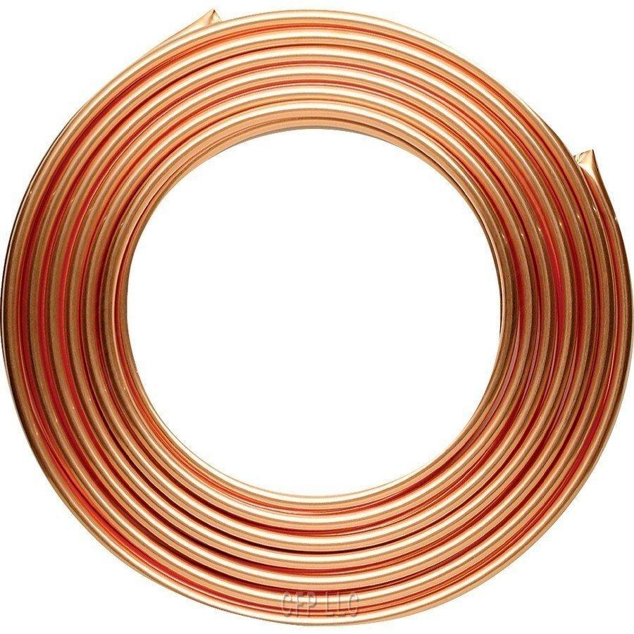 Brzdové potrubí měděné 10 mm, délka 5 m