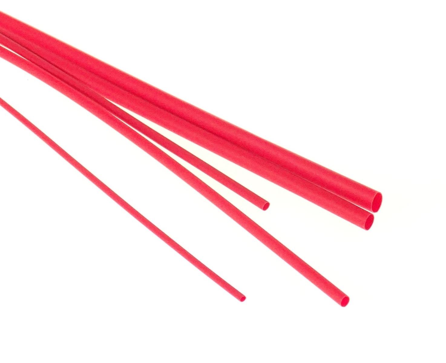 Bužírka - hadička smršťovací 1,6/0,8 mm, délka 1 m, polyetylen - červená