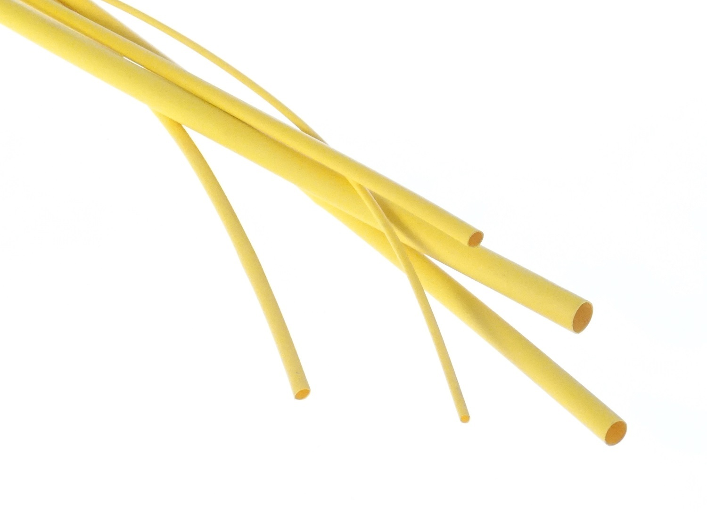Bužírka - hadička smršťovací 2,4/1,2 mm, délka 1 m, polyetylen - žlutá