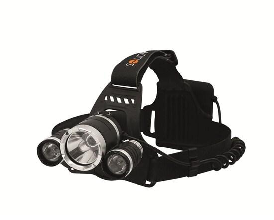 Čelová LED svítilna - čelovka Super Power, 900 lm, bateriová