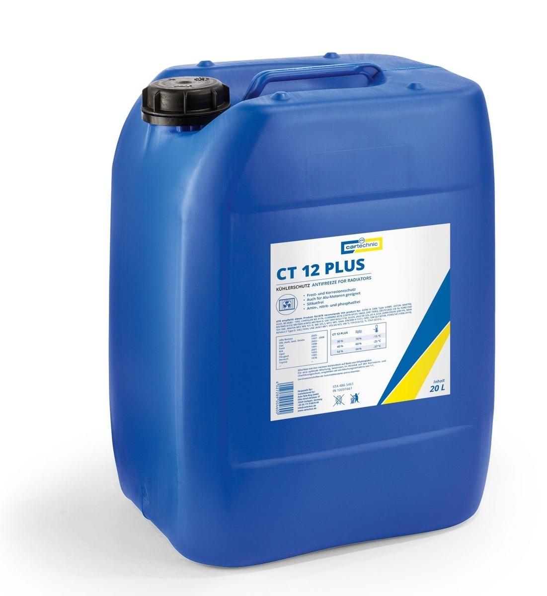 Chladicí kapalina - nemrznoucí směs CT 12 PLUS růžová, 20 litrů - Cartechnic