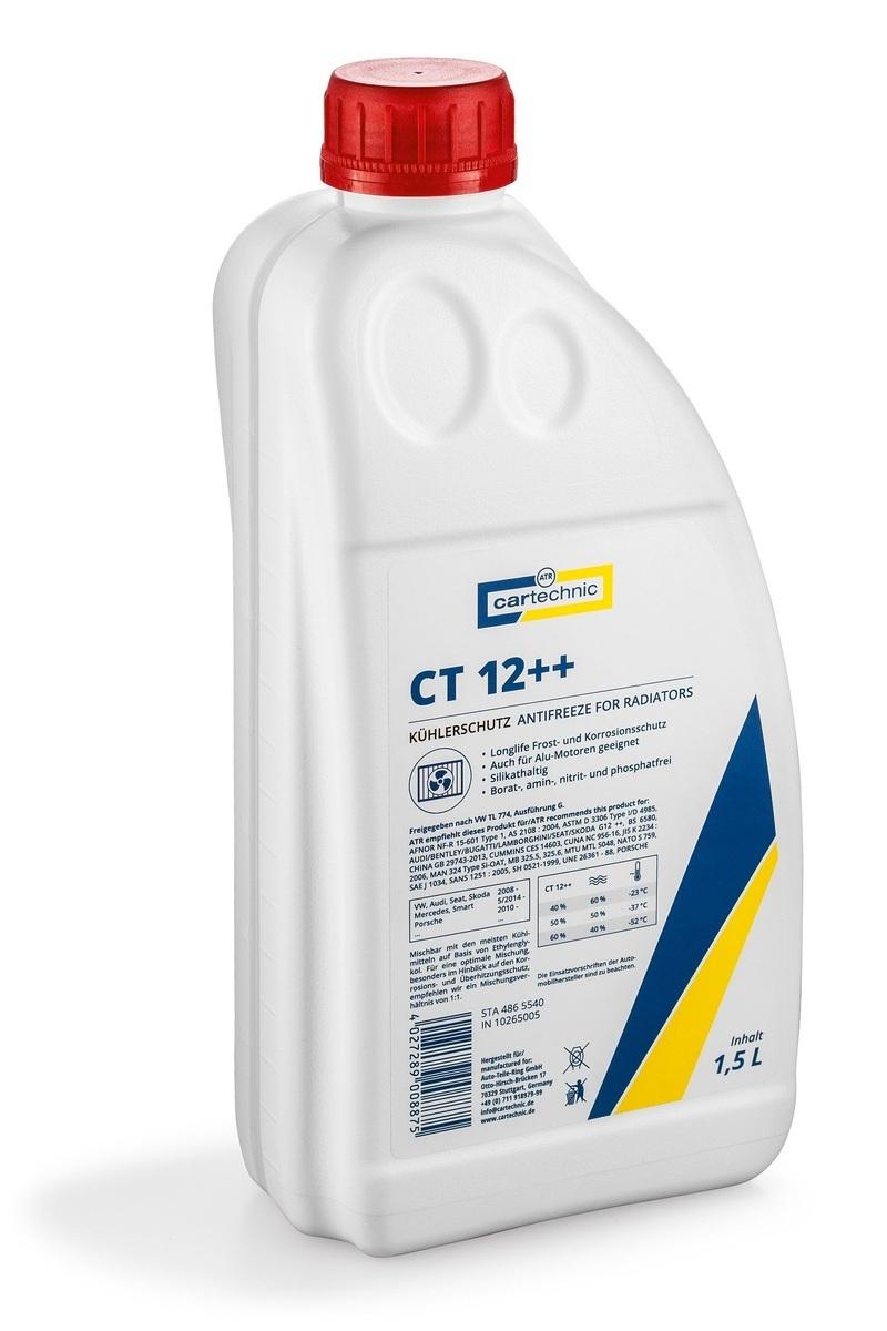 Chladicí kapalina - nemrznoucí směs CT 12 ++ fialová, 1,5 litru - Cartechnic