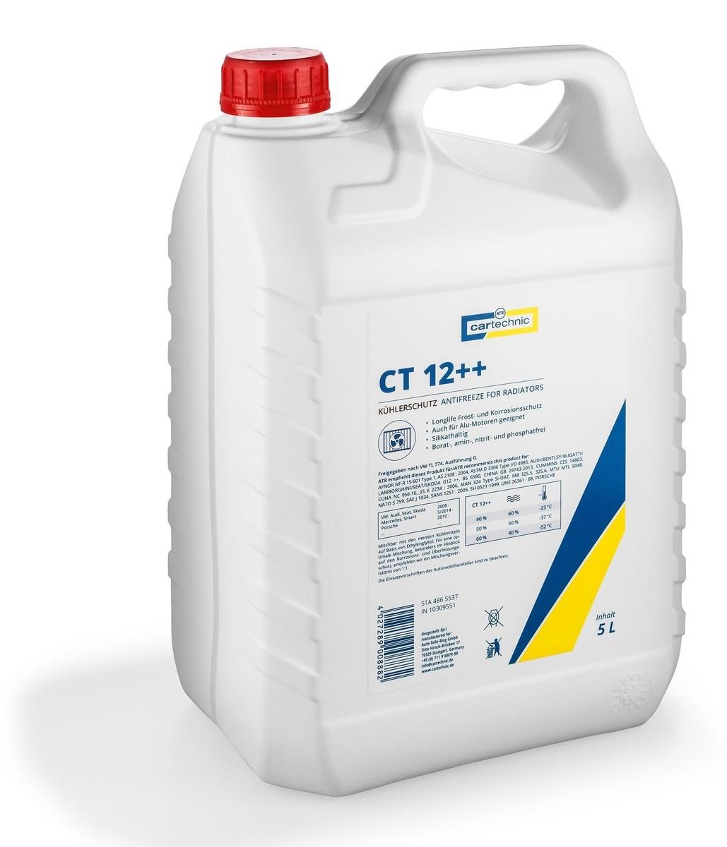 Chladicí kapalina - nemrznoucí směs CT 12 ++ fialová, 5 litrů - Cartechnic