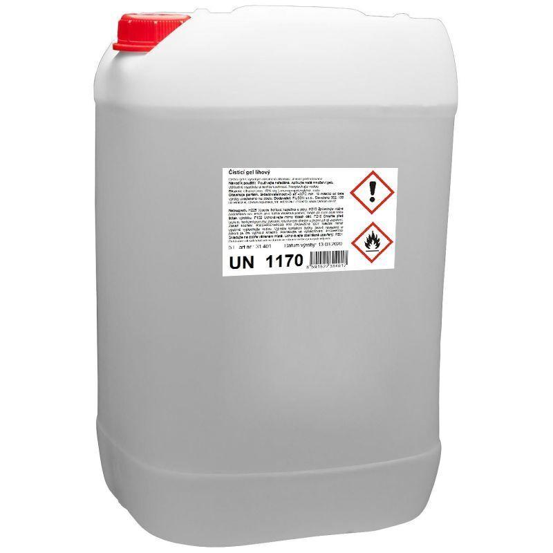 Dezinfekce - čisticí gel lihový, na ruce, 5 litrů