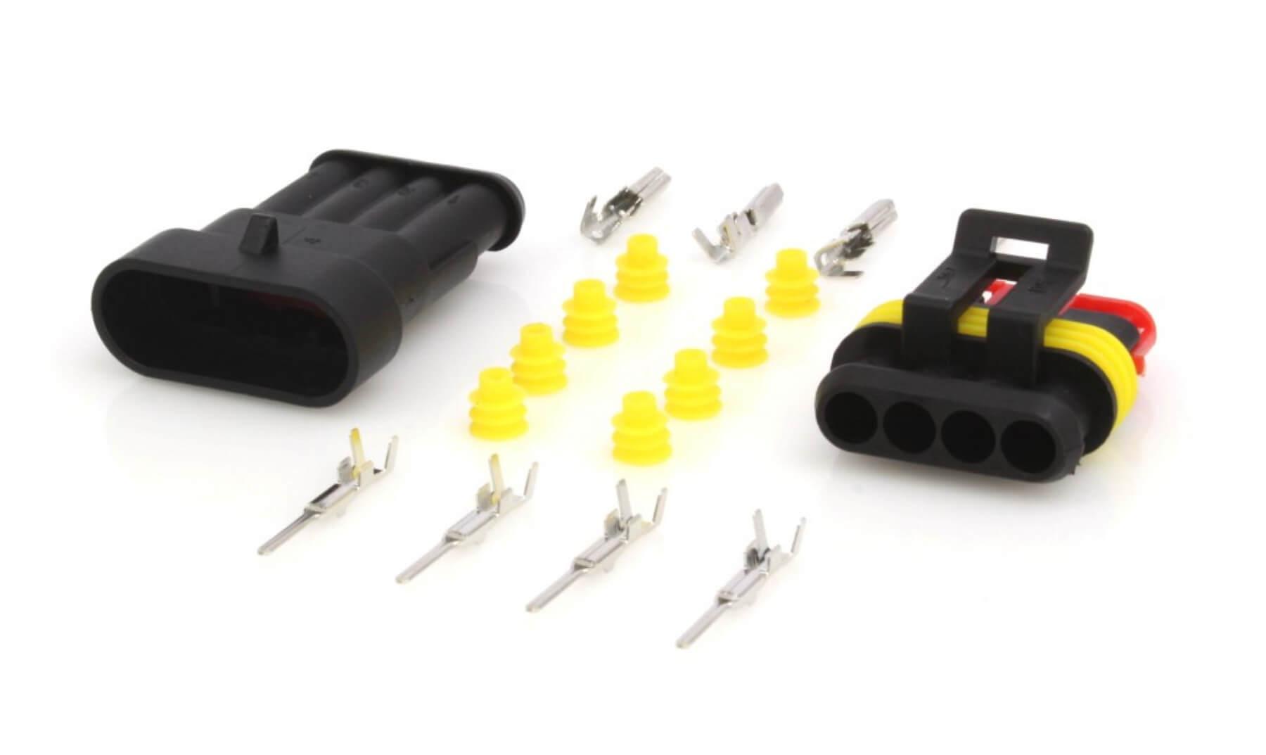 Elektrický konektor vodotěsný, tzv. štekr, čtyřkontaktový, 4P/1,5 - ASTA