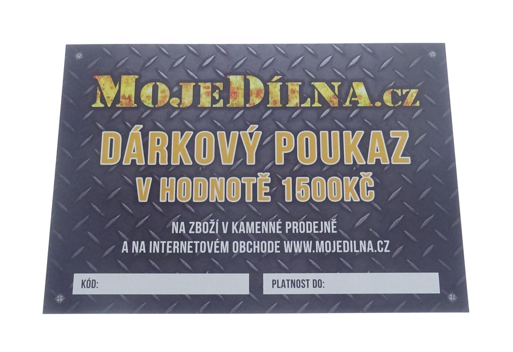 Dárkový poukaz MojeDílna.cz v hodnotě 1500 Kč - tištěný