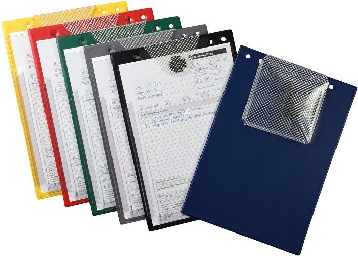 Desky na dokumenty A4 s kapsou, různé barvy - Turbo