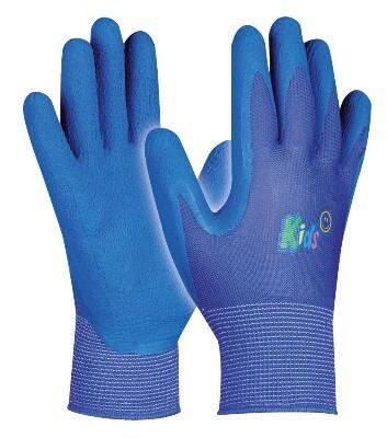 Dětské pracovní rukavice KIDS BLUE, modré, velikost 5
