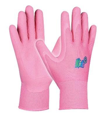 Dětské pracovní rukavice KIDS PINK, růžové, velikost 5