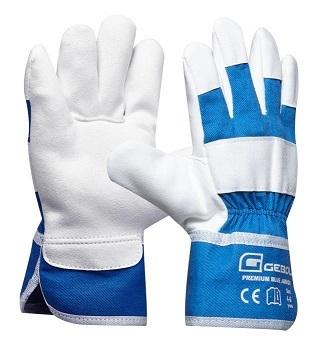 Dětské pracovní rukavice PREMIUM BLUE JUNIOR, modrobílé, věk 4 - 6 let