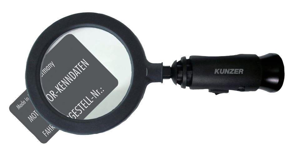 Dílenská lupa s osvětlením LED a magnetem - Kunzer