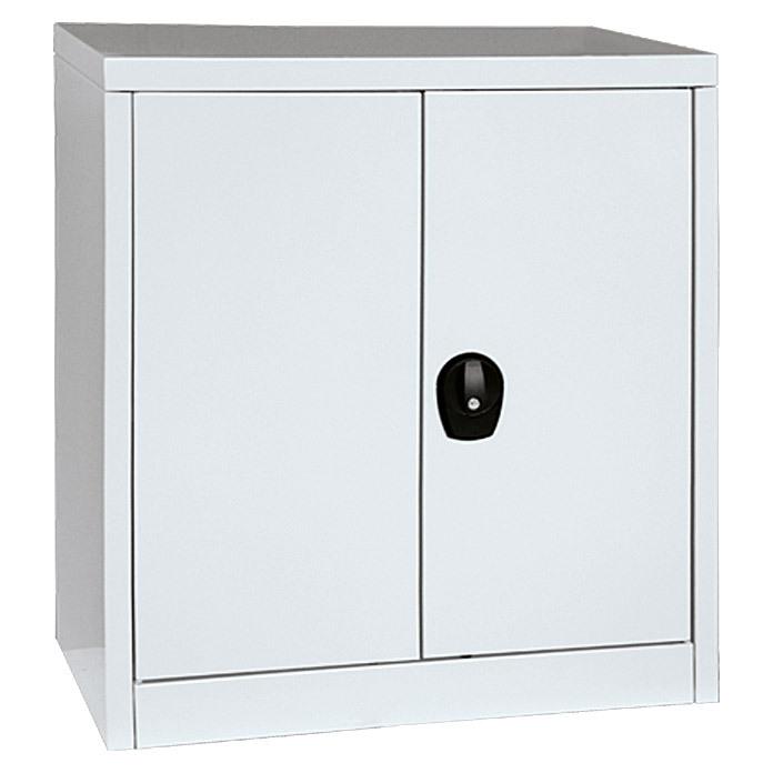 Dílenská skříňka kovová nízká 80 x 90 x 41 cm, 2 police, uzamykatelná