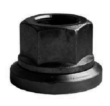 Disková matice M 22x1,5, výška 30 mm, klíč 32, otočná podložka, černá - Ferdus 11.126