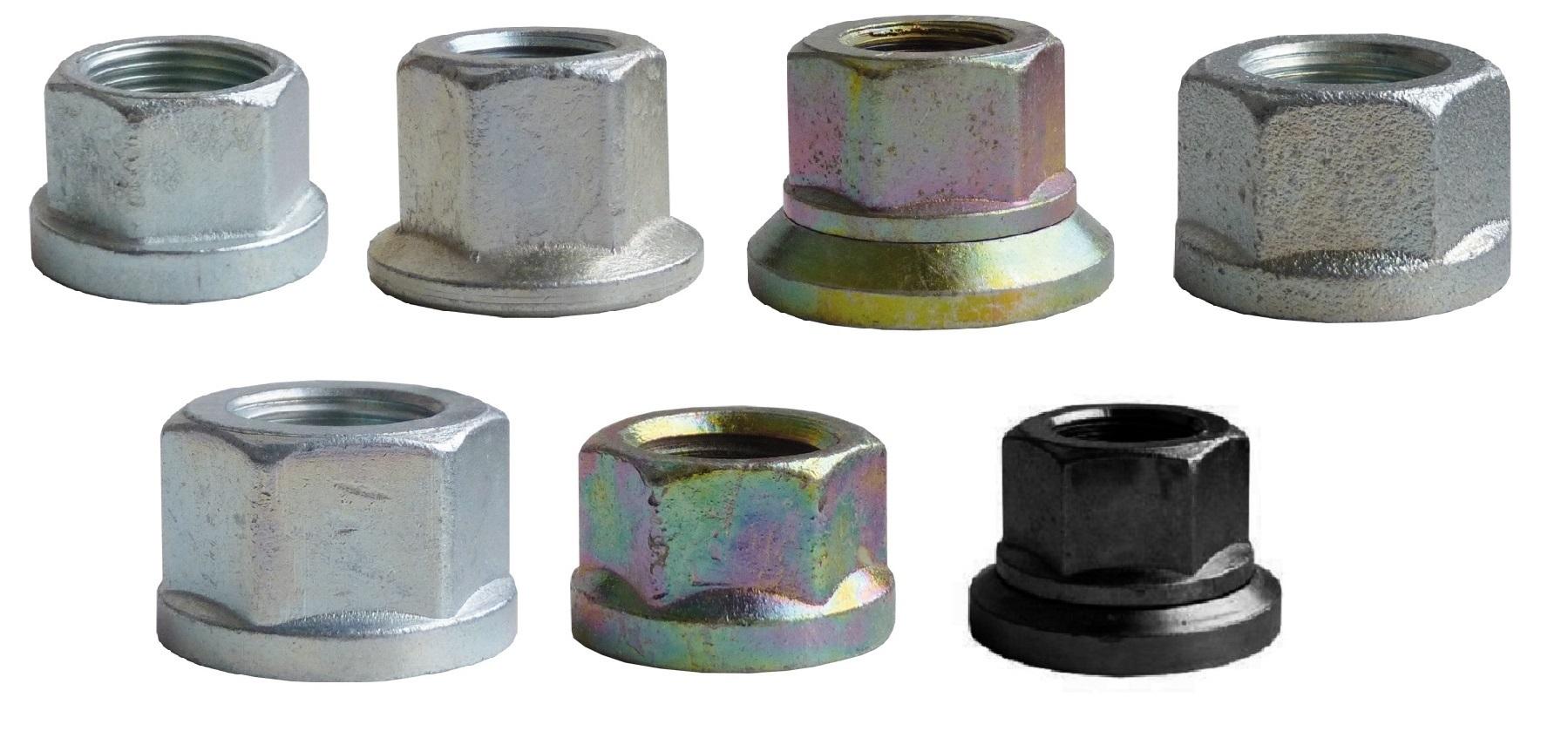 Diskové matice, rovná dosedací plocha, pro Avia, Tatra, různé rozměry - Ferdus