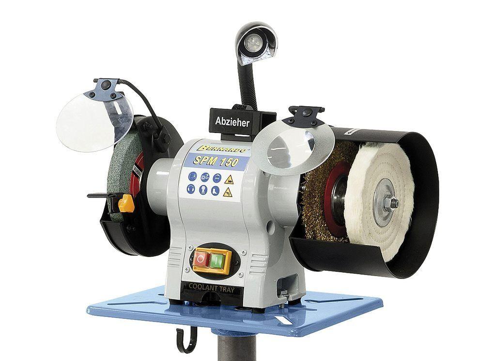 Stolní bruska kotoučová 230 V 500 W, se sadou kotoučů - Bernardo SPM 150