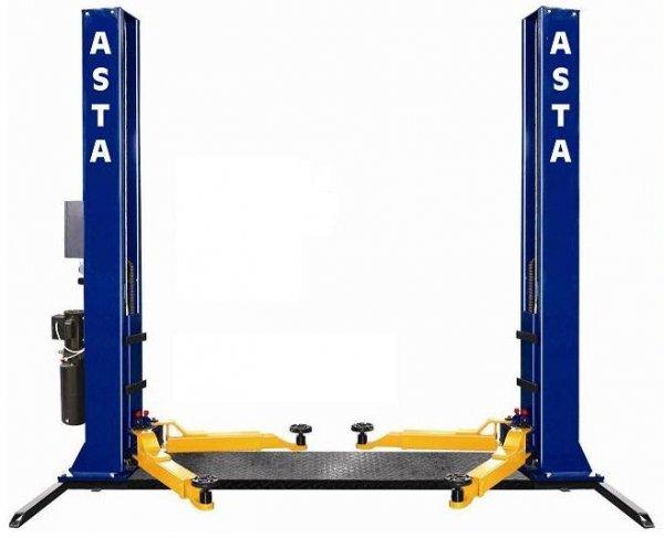 Zvedák dvousloupový 4 t, elektromagnetické zámky, spodní propojení - ASTA