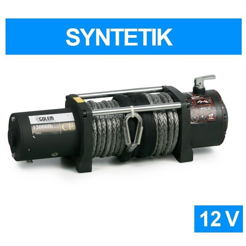 Elektrický naviják Golemwinch 12000 SYNTETIK 12V, 5,4 t, syntetické lano - Golemtech