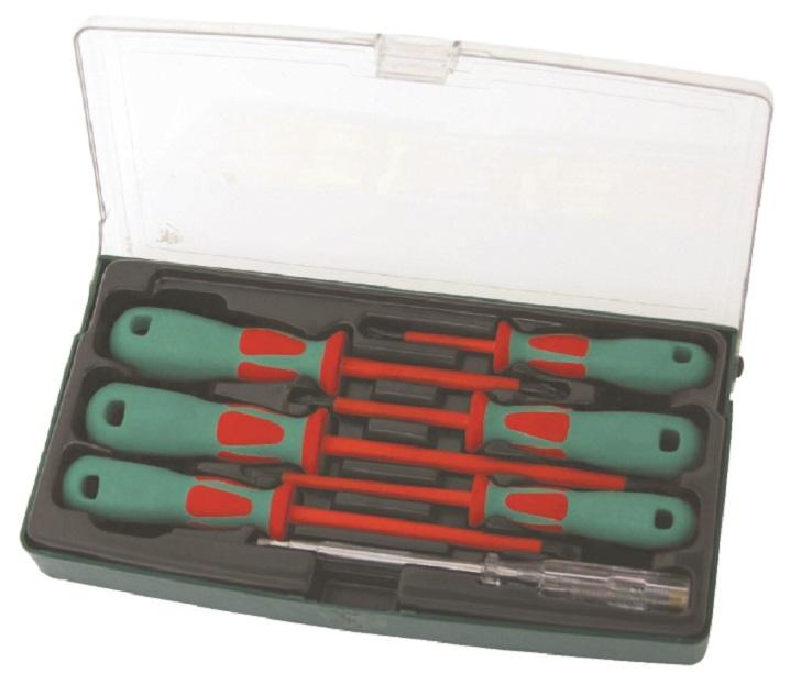 Elektrikářské šroubováky izolované 1000V, ploché a křížové, 7 kusů - JONNESWAY DV13PP07S