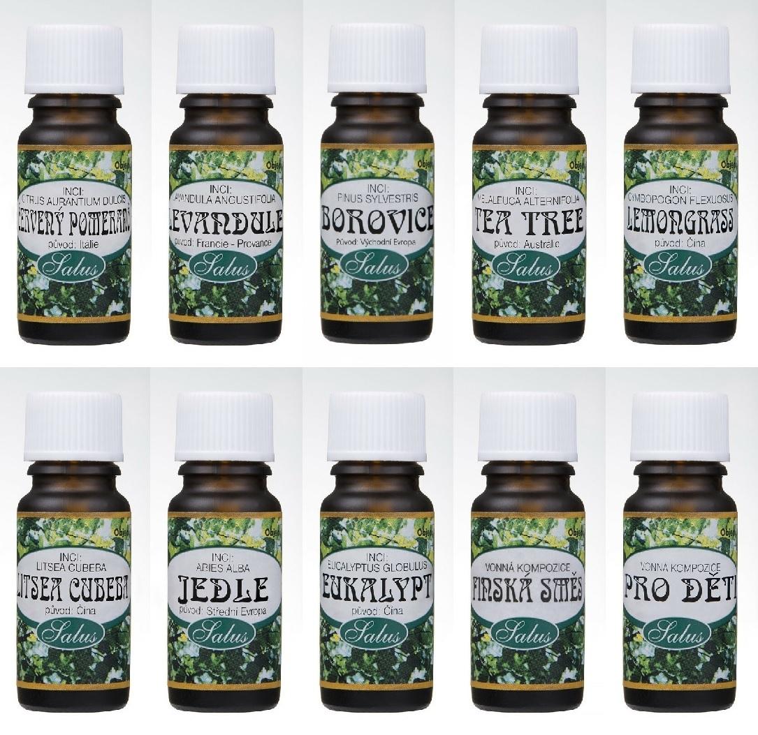 Esenciální oleje, různé vůně, 10 ml - SALOOS