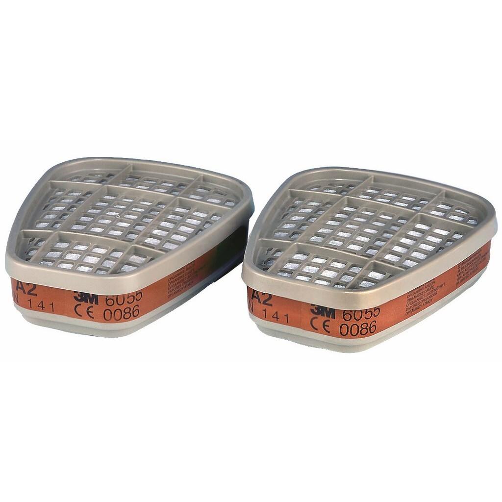Filtr proti plynům a výparům ochrana A2 (2ks)- 3M 6055