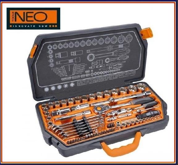 """Gola sada 1/2"""", 1/4"""", 71kusů - NEO tools 08-635"""