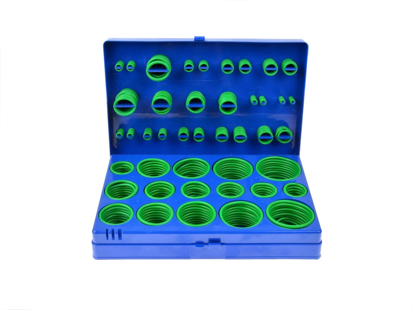 Gumové o-kroužky pro spoje klimatizace, různé rozměry, sada 419 kusů