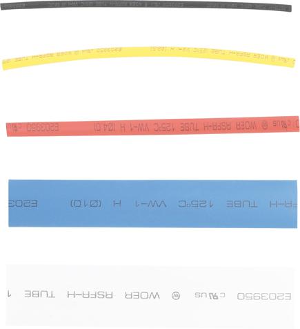 Hadičky smršťovací, barevné, sada 100 dílů-BGS 8123