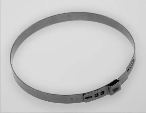 Hadicové spony nerezové, průměr 107 mm, balení 10 ks