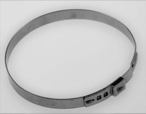 Hadicové spony nerezové, průměr 95,5 mm, balení 10 ks