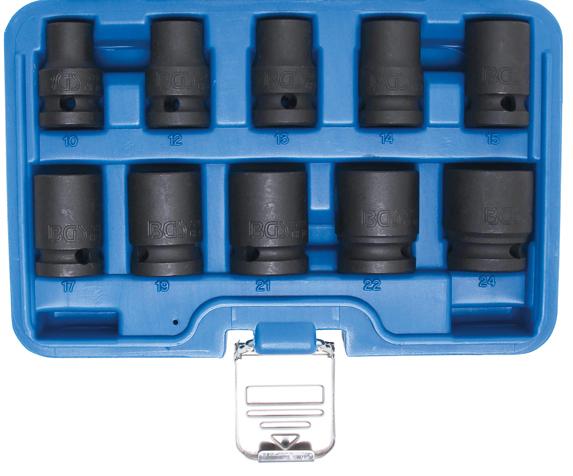 "Hlavice 1/2"" nástrčné tvrzené 10-24mm CrMo - BGS 5205"