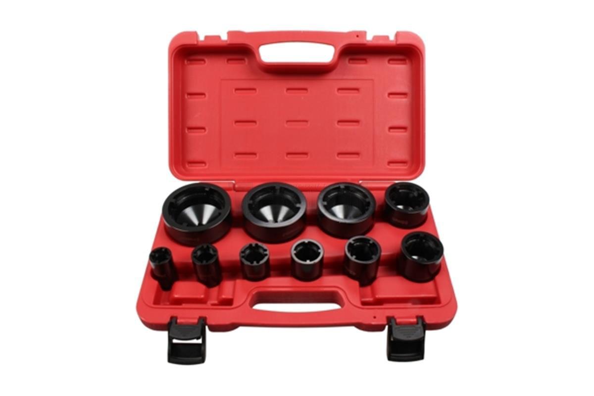 """Nástrčné hlavice - klíče 1/2"""" 26-88 mm, na hřídelové KM matice, sada 10 ks"""