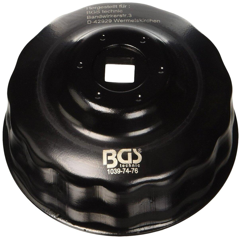 Hlavice na povolování olejových filtrů 74 - 76 mm, 15 hran, FORD, VW - BGS 1039-74-76