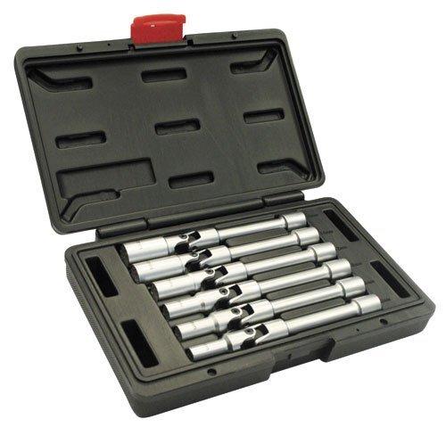 """Hlavice na zapalovací svíčky 3/8"""", 8 - 16 mm, 6hranné, kloubové prodloužené, 6 ks - ASTA"""