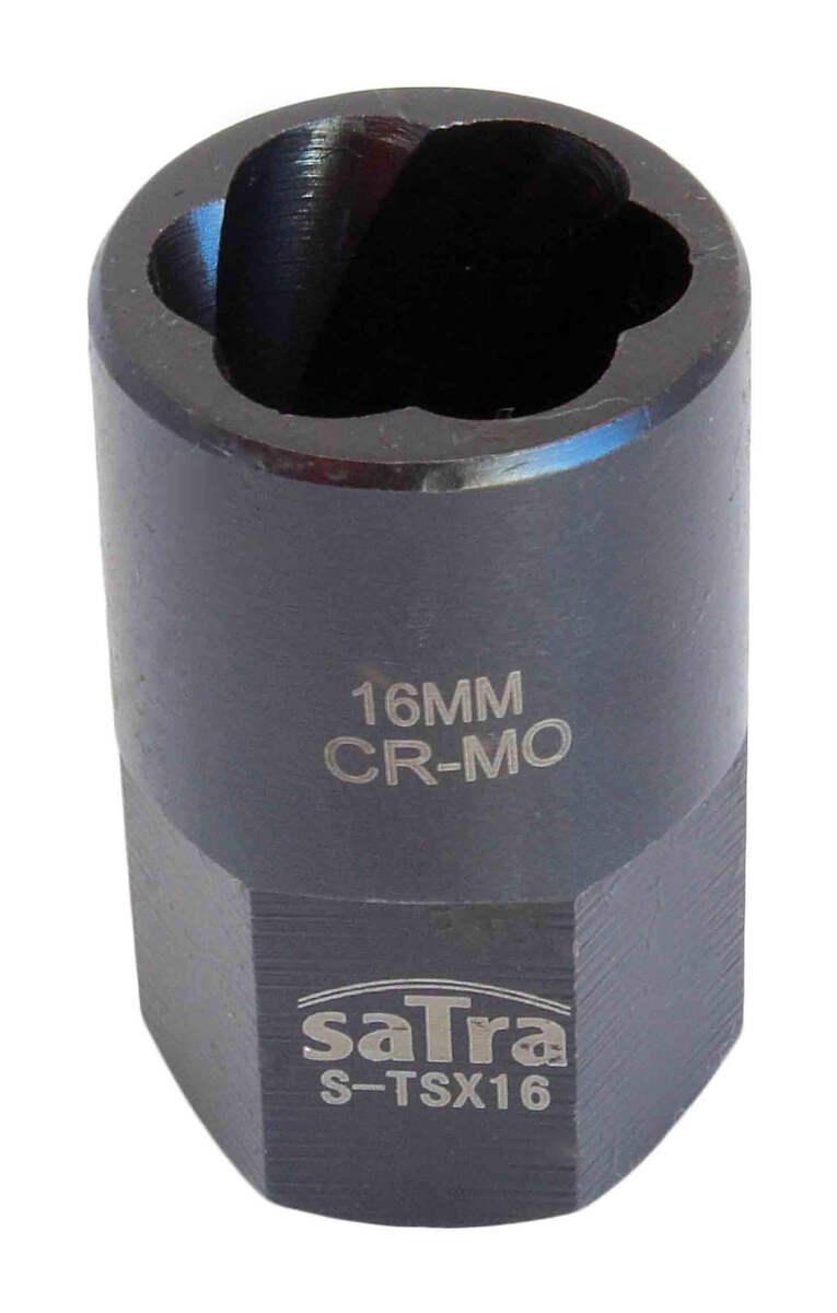 """Hlavice nástrčná na poškozené šrouby 1/2"""", rozměr 16 mm - SATRA"""