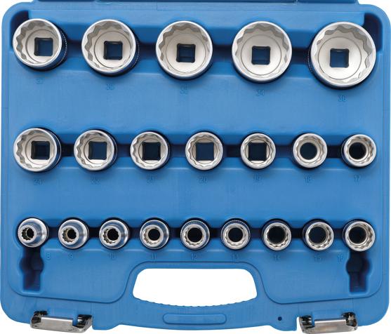 """Hlavice nástrčné 1/2"""" 8-36 mm, sada 21 dílů - BGS 2267"""